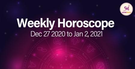 Weekly horoscope 2020 December 27 to Jan 2